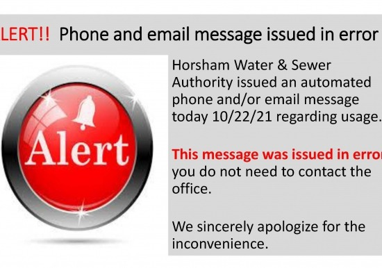 ALERT! Phone and email campaign issued in error - disregard notice Slideshow