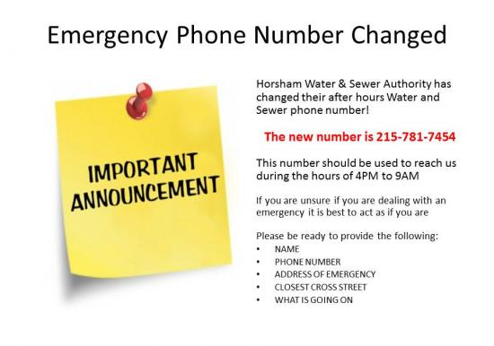 Emergency Phone Number Changed! Slideshow